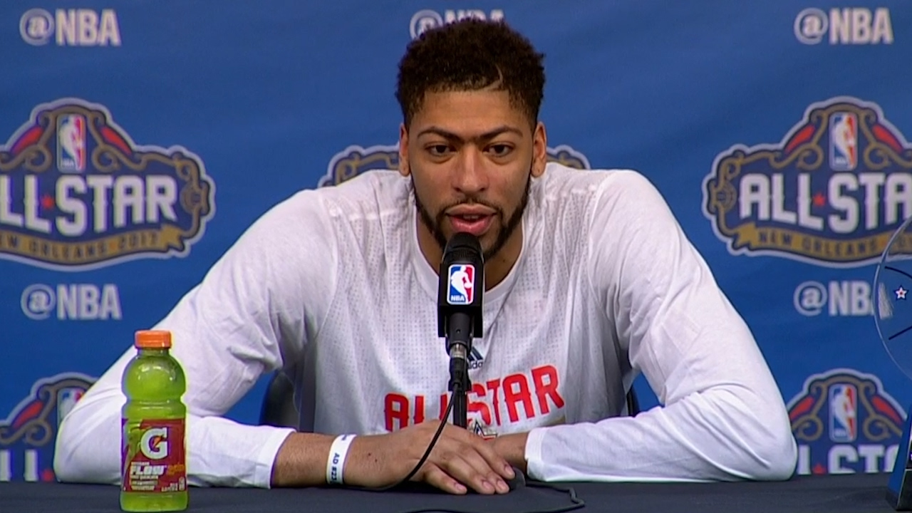 Anthony Davis drops an F-Bomb while arriving at post All-Star press conference