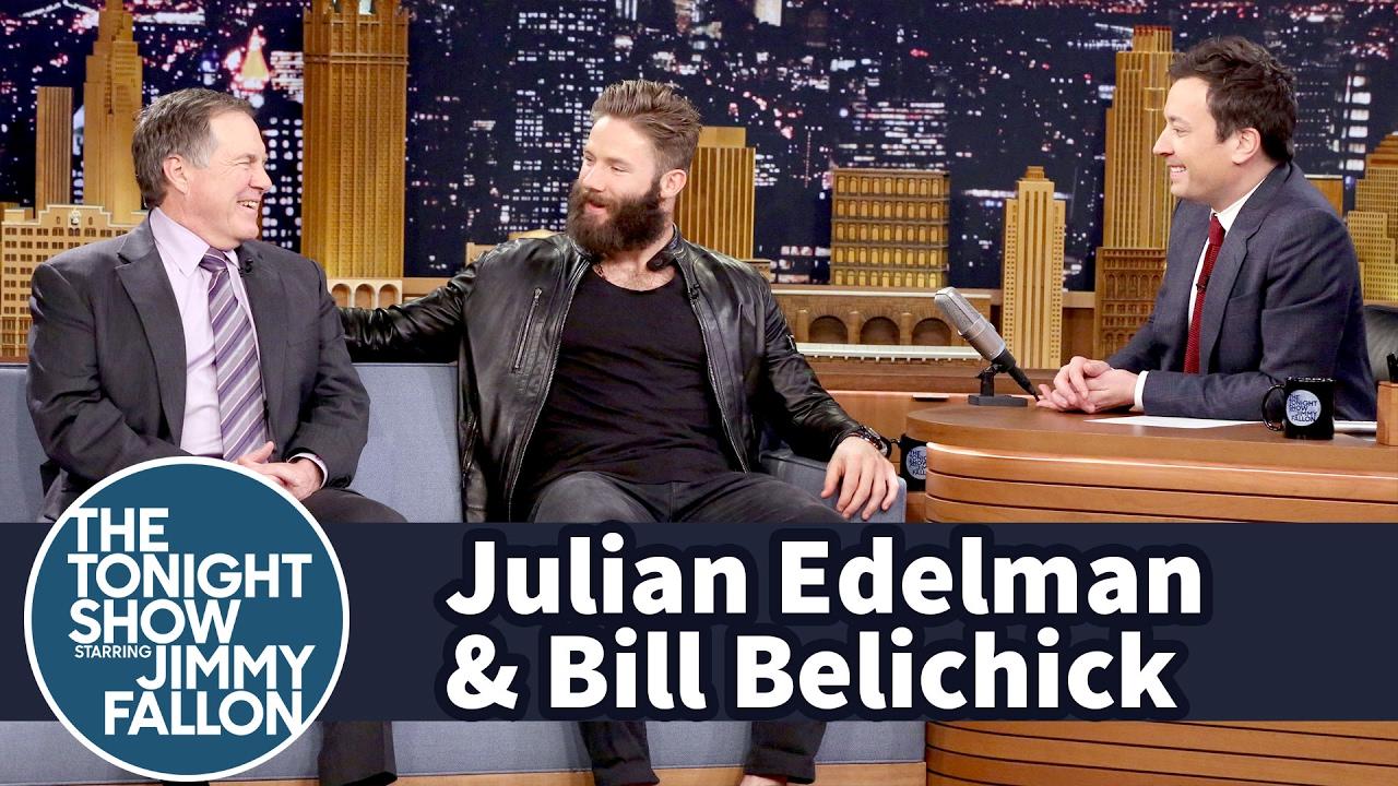 Bill Belichick & Julian Edelman in top form on the Jimmy Fallon show