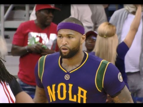 DeMarcus Cousins' first bucket as a Pelican