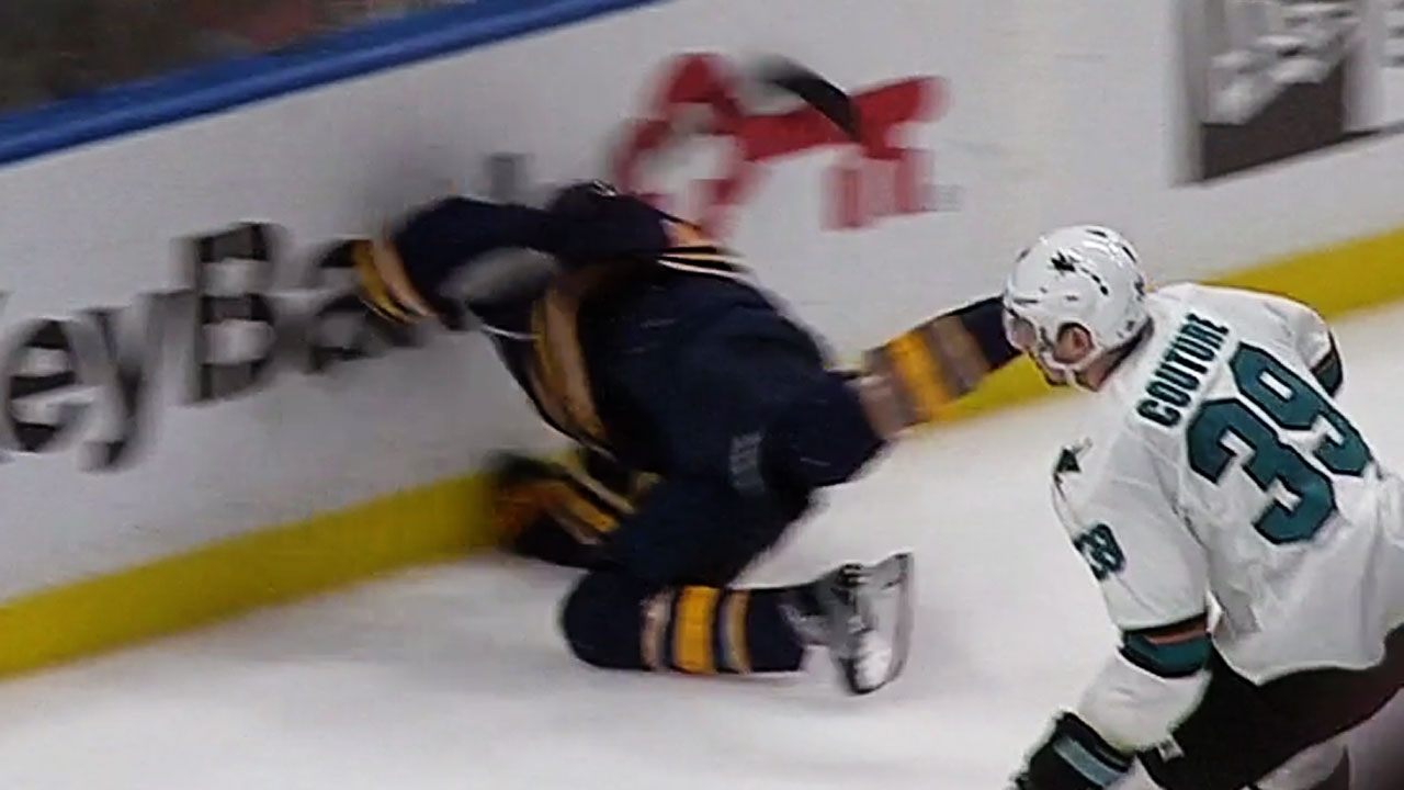 Evander Kane scores OT game winner & crashes into the boards head first