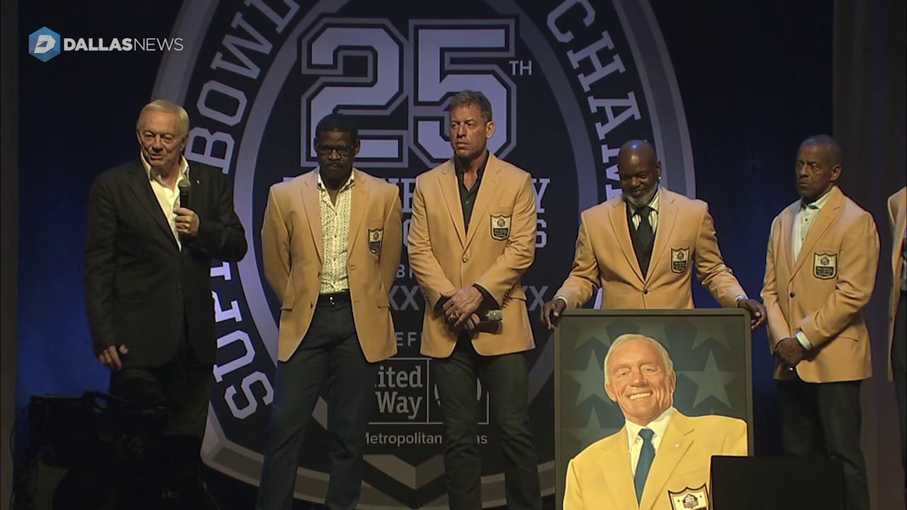Michael Irvin & Cowboys legends honor Jerry Jones for his election to the Hall of Fame
