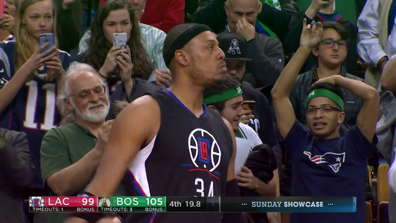 Paul Pierce hits a chilling farewell 3-pointer during his final game in Boston