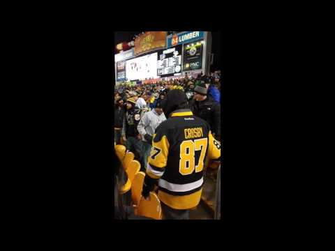 Pittsburgh Penguins fans brawl with each other during Penguins vs. Flyers