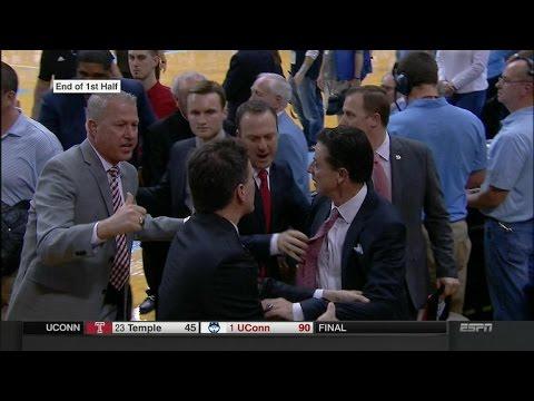 Rick Pitino gets into a heated altercation with a North Carolina fan
