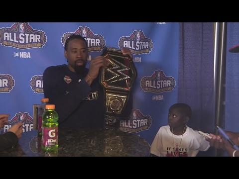 Saints super fan Jarrius Robertson roasts DeAndre Jordan