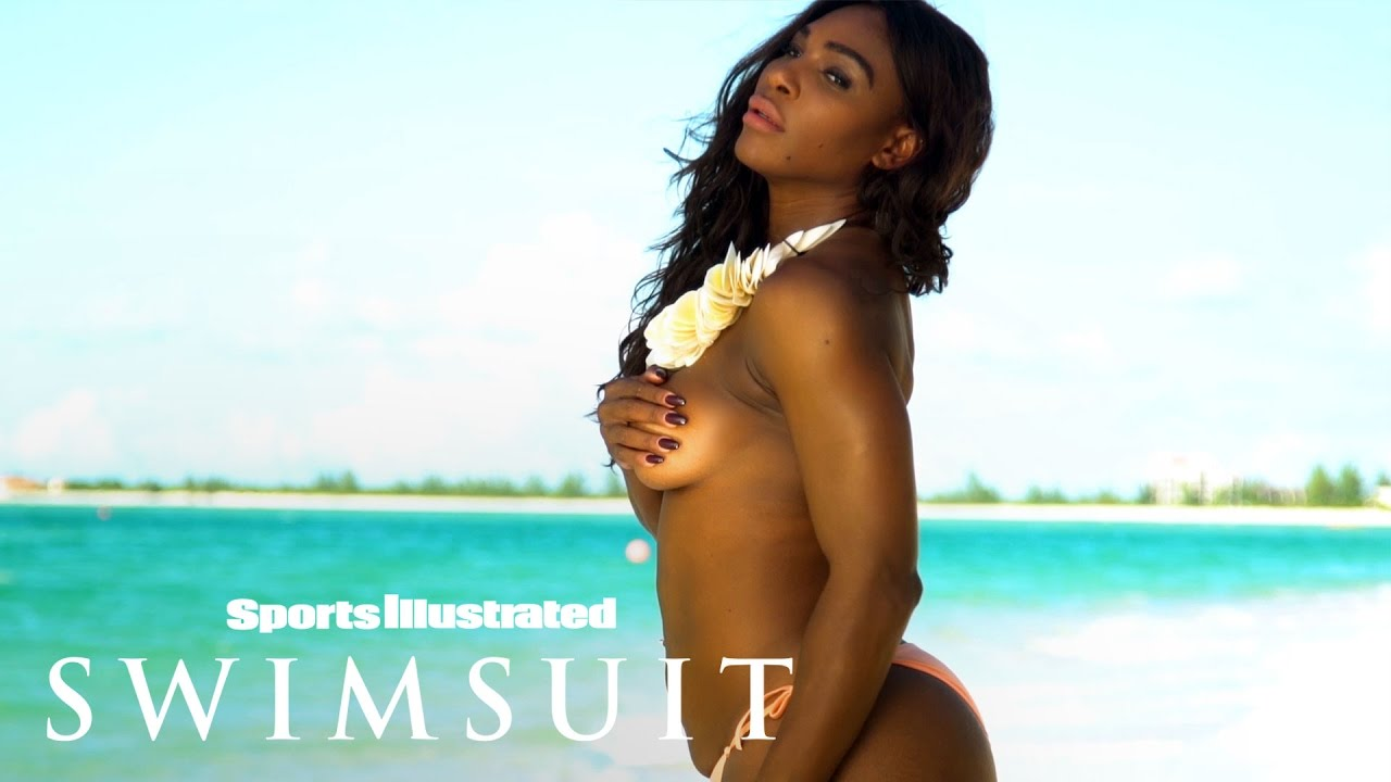 Serena Williams poses topless & in a thong during Sports Illustrated shoot