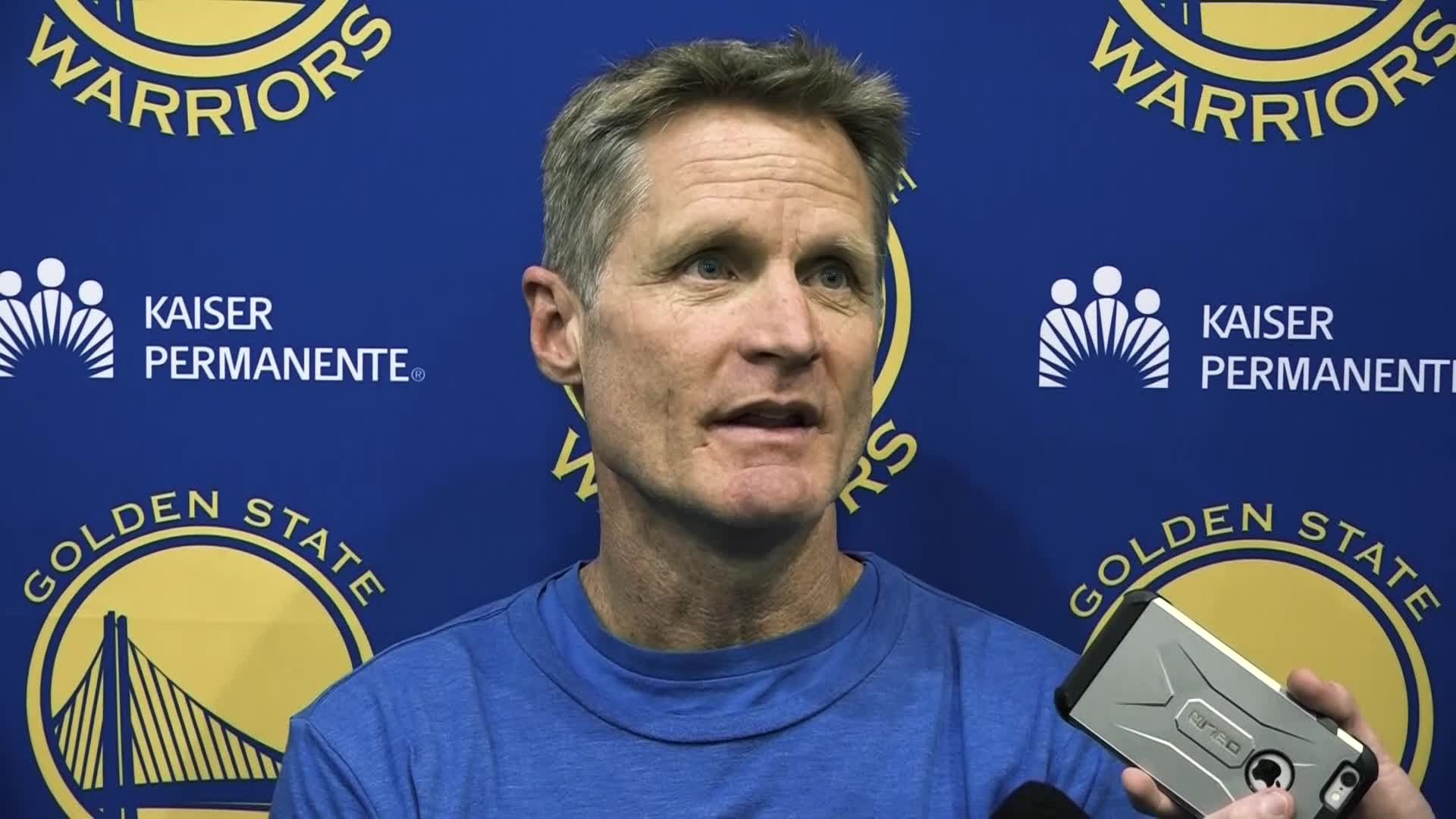 Steve Kerr defends JaVale McGee in war of words with Shaq