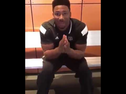 Texas A&M's Myles Garrett makes a plea to the Cowboys to trade up with the Browns