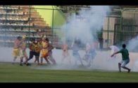 Brutal brawl breaks out on the pitch during Brazilian soccer match
