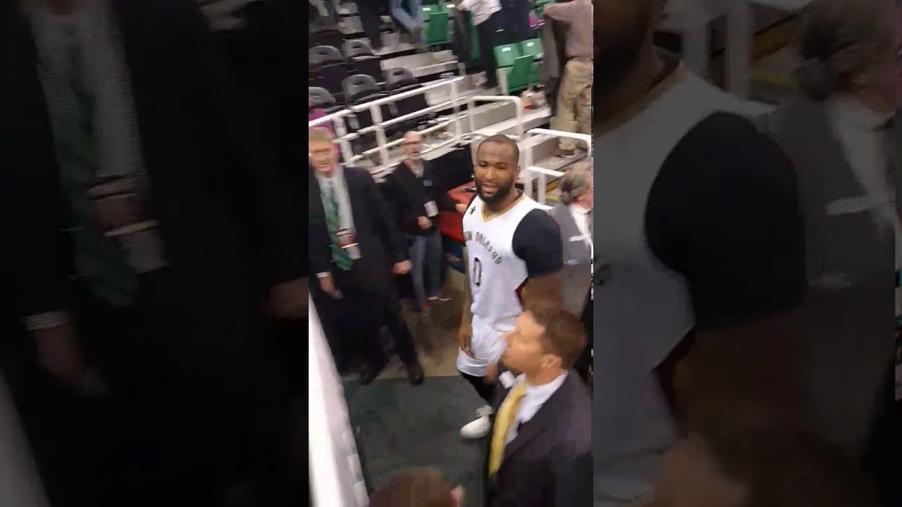 DeMarcus Cousins tells a heckler to