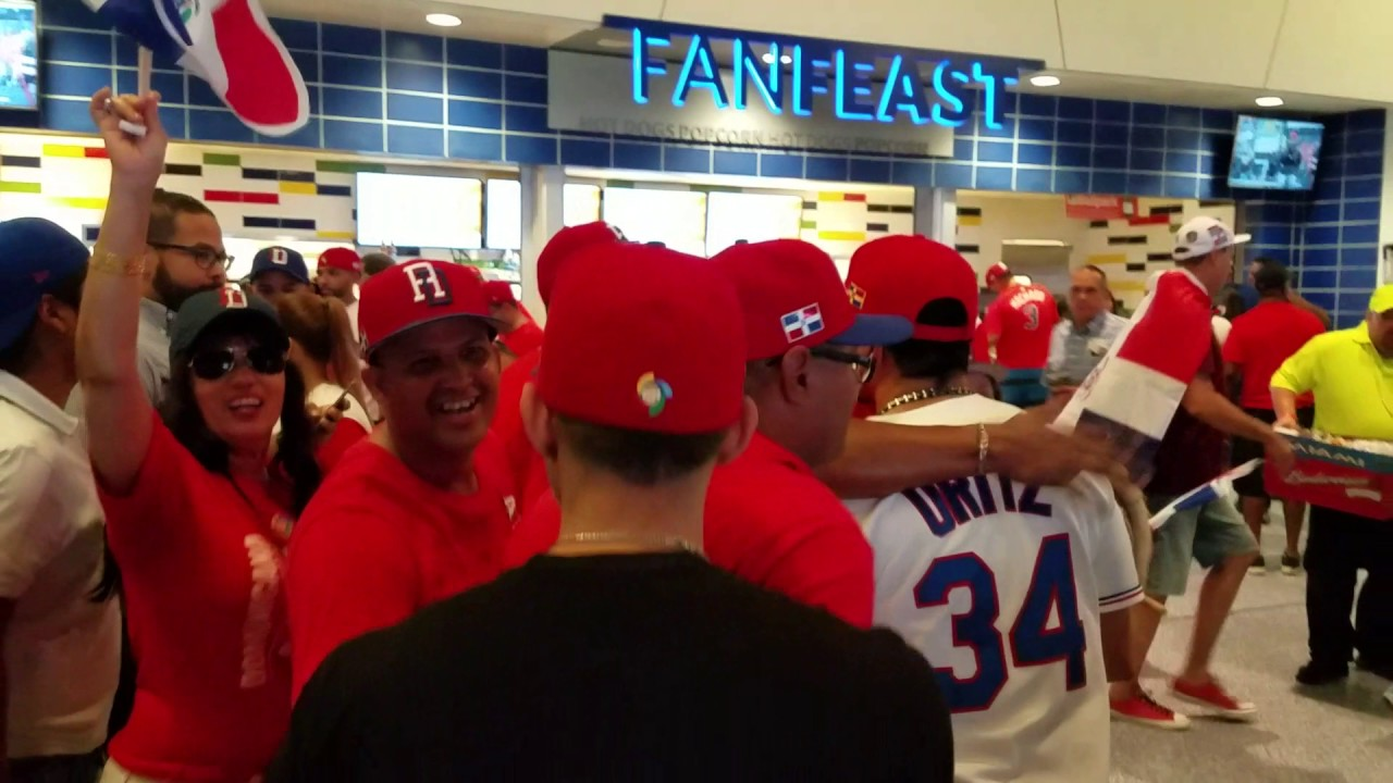 Dominican Republic fans excited during game vs. USA