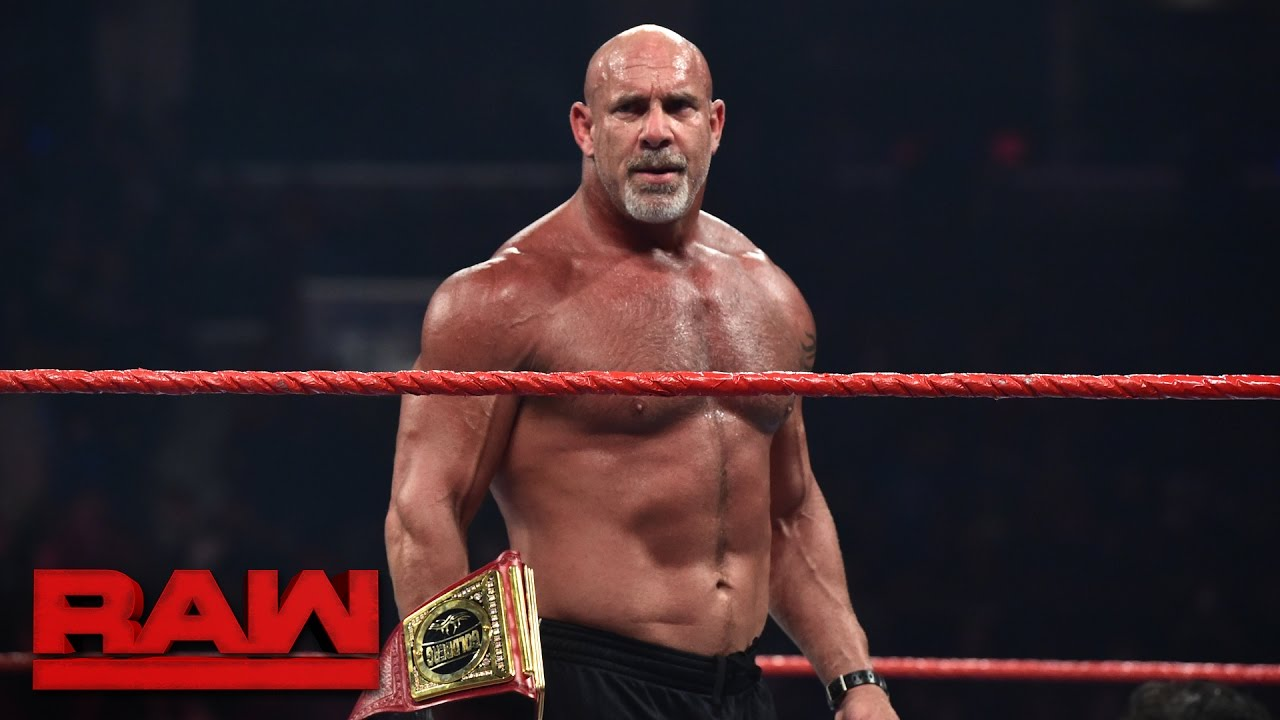 Goldberg meets Brock Lesnar face to face before WrestleMania