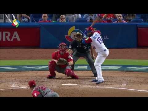 Jose Bautista tees off a 3-Run Homer vs. Canada