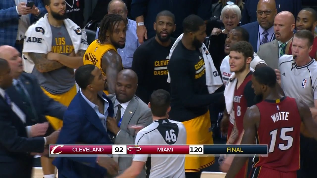 JR Smith & Dion Waiters exchange words after Cavs loss to Miami
