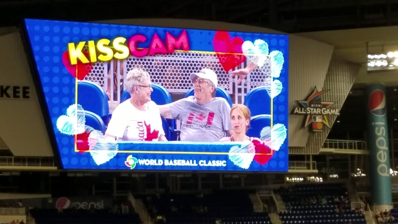 Kiss Cam at Marlins Park for World Baseball Classic (FV Exclusive)