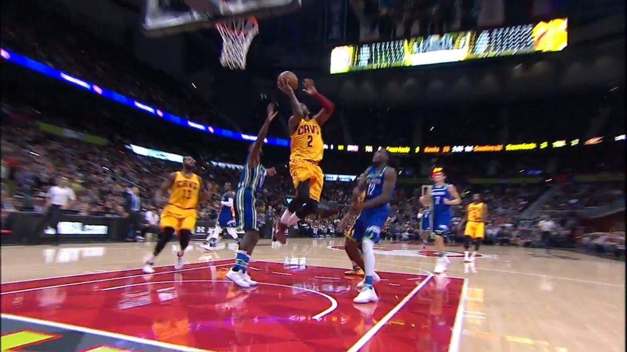 Kyrie Irving shows off sensational handles with layup finish