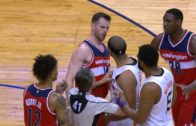 Phoenix's Jared Dudley head butts Washington's Jason Smith