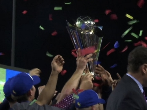 Team USA celebrates first ever World Baseball Classic title