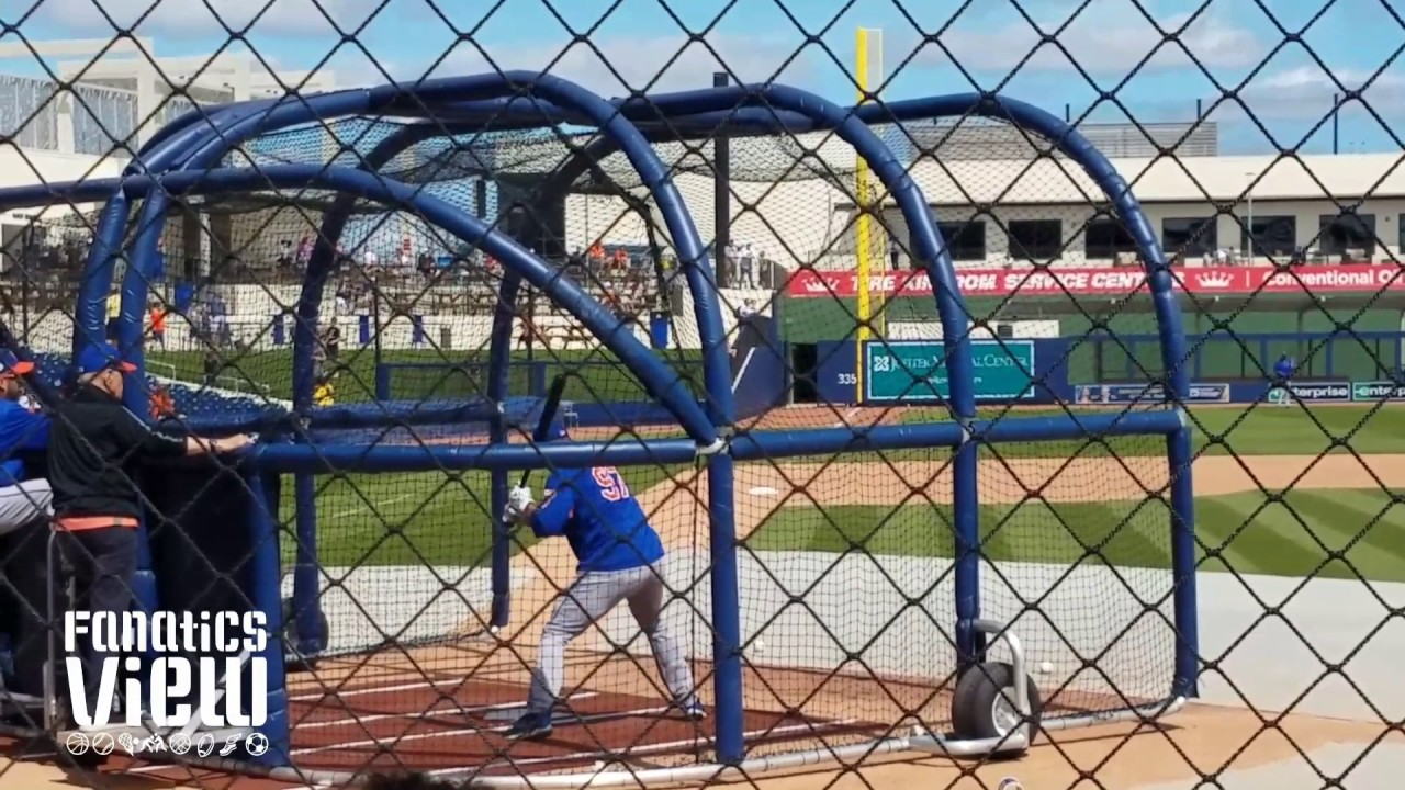 Tim Tebow batting practice with Mets at Spring Training (Part 1 - FV Exclusive)