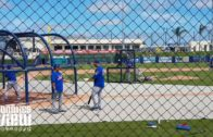 Tim Tebow gets in practice swings at Mets Spring Training (FV Exclusive)