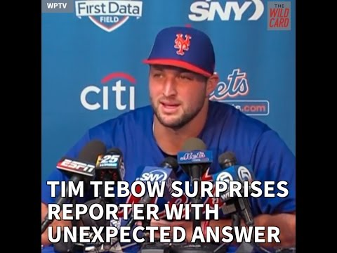 Tim Tebow shares life perspective in his New York Mets spring training presser