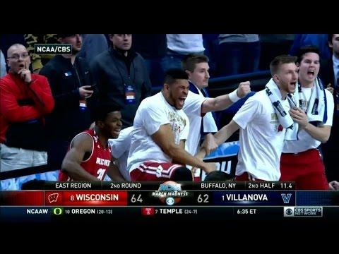 Wisconsin upsets defending champion Villanova in thriller