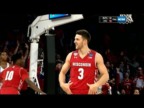 Wisconsin's Zak Showalter hit game tying 3-pointer & did Aaron Rodgers belt dance