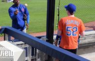 Yoenis Cespedes signs autographs for kids at New York Mets game (FV Exclusive)