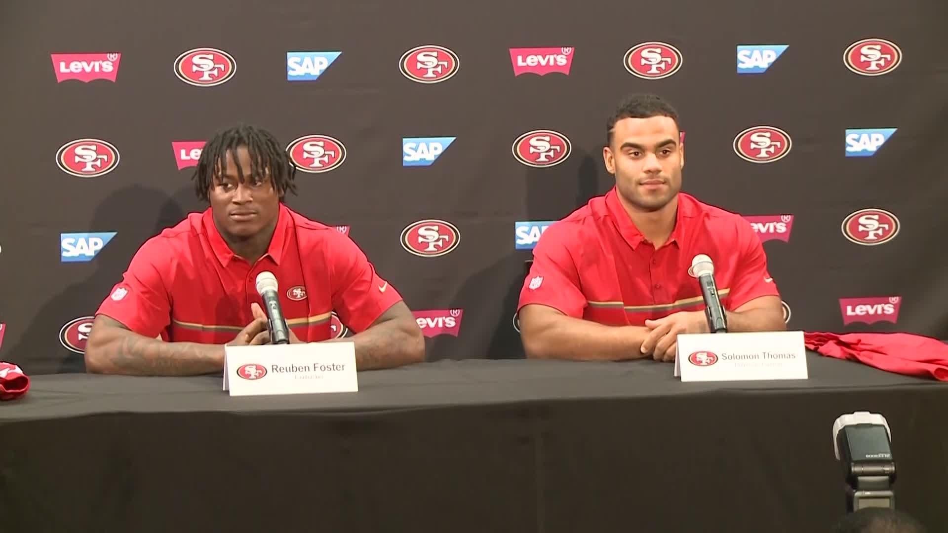 49ers introduce first round picks Solomon Thomas & Reuben Foster
