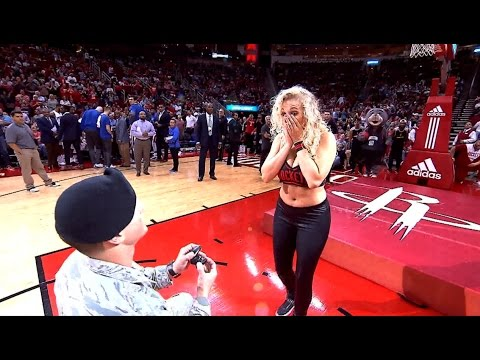 Awesome: Houston Rockets set up surprise proposal for one of their dancers