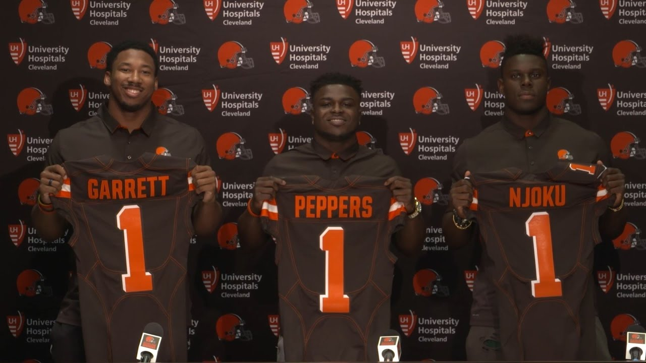 Cleveland Browns introduce Myles Garrett, Jabrill Peppers & David Njoku