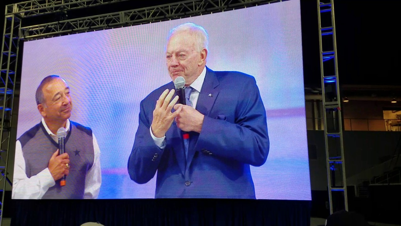 Jerry Jones gets emotional during speech at Cowboys Draft Party (FV Exclusive)