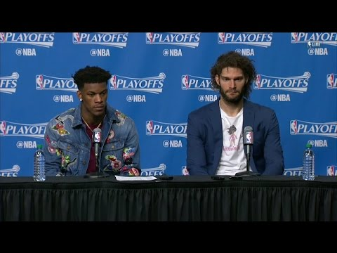 Jimmy Butler & Robin Lopez speak on facing Isaiah Thomas after his sisters passing