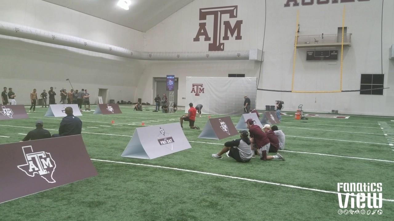 Josh Reynolds 40 Yard Dash at Texas A&M's Pro Day (FV Exclusive)