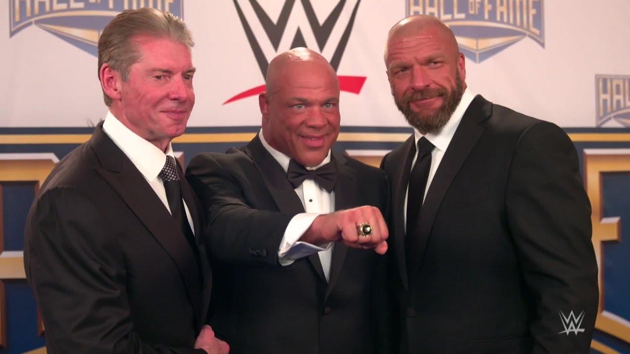 Kurt Angle receives his WWE Hall of Fame ring