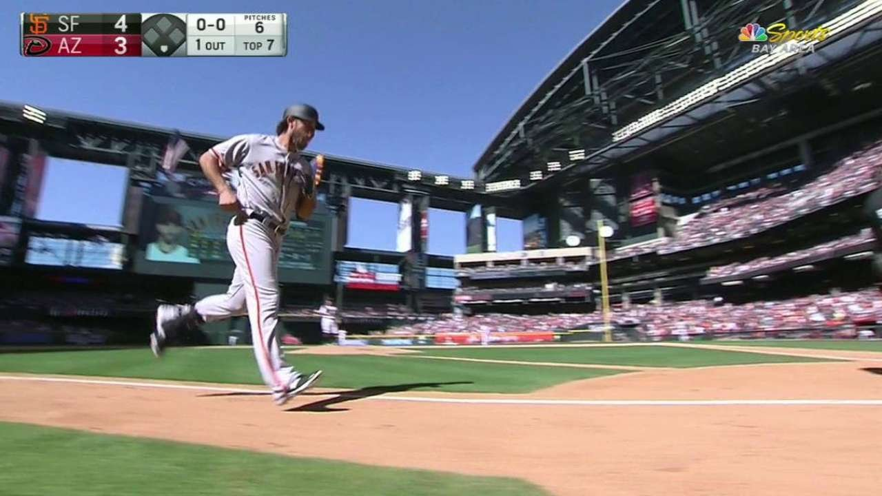 Madison Bumgarner becomes first Opening Day pitcher to hit 2 Home Runs in MLB history