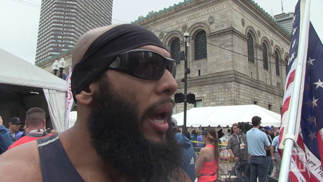 Marine amputee Jose Sanchez speaks on why he ran the Boston Marathon