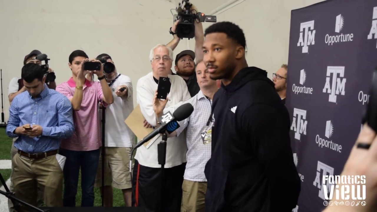Myles Garrett talks NFL Draft & his Texas A&M Pro Day performance