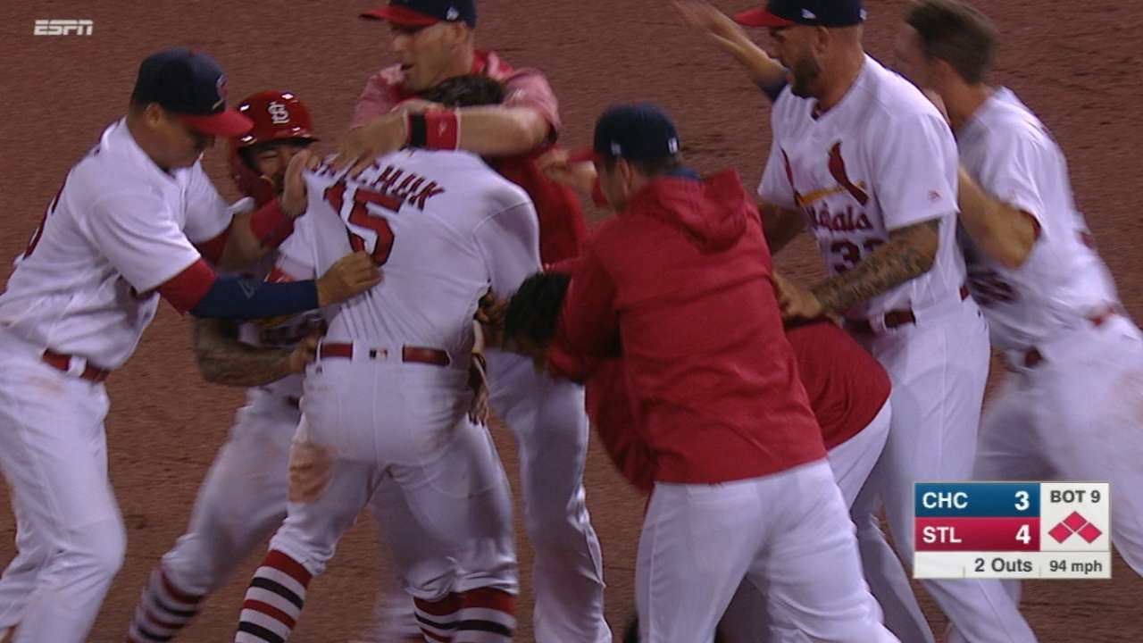 Randal Grichuk lines clutch walk off single for St. Louis Cardinals