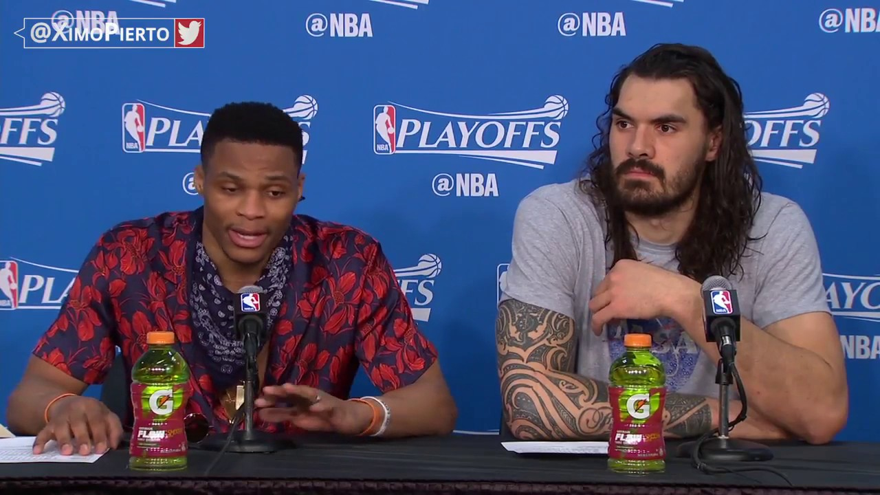 Russell Westbrook shuts down a reporter after being asked about OKC's bench play