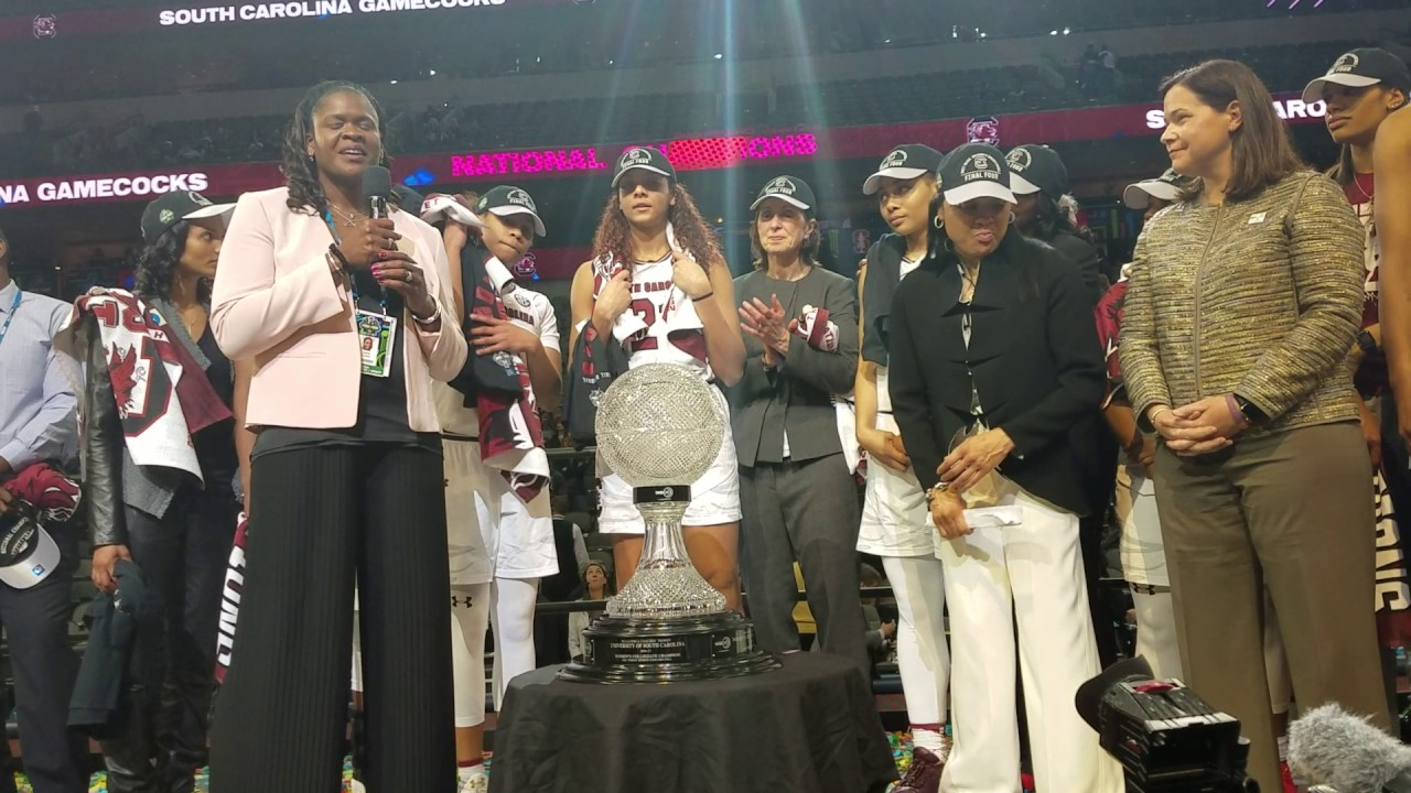 South Carolina National Championship Trophy Presentation (FV Exclusive)