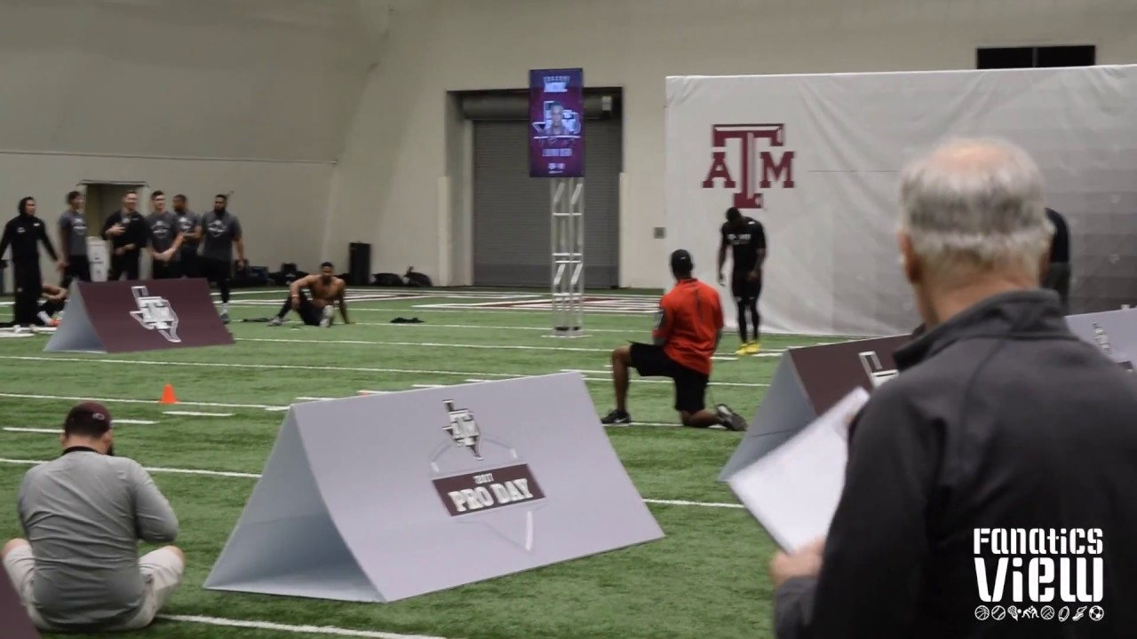 Speedy Noil's 40 Yard Dash at Texas A&M's Pro Day (FV Exclusive)