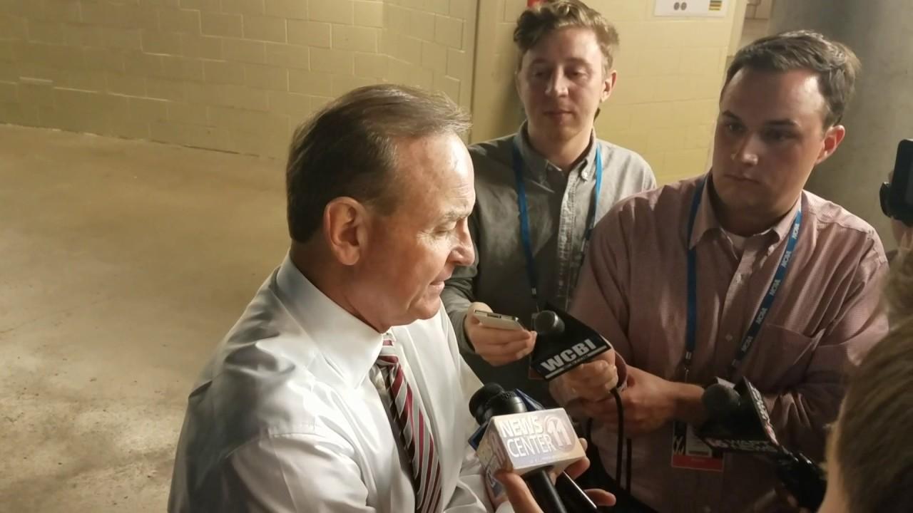 Vic Schaefer speaks on Mississippi State's loss to South Carolina