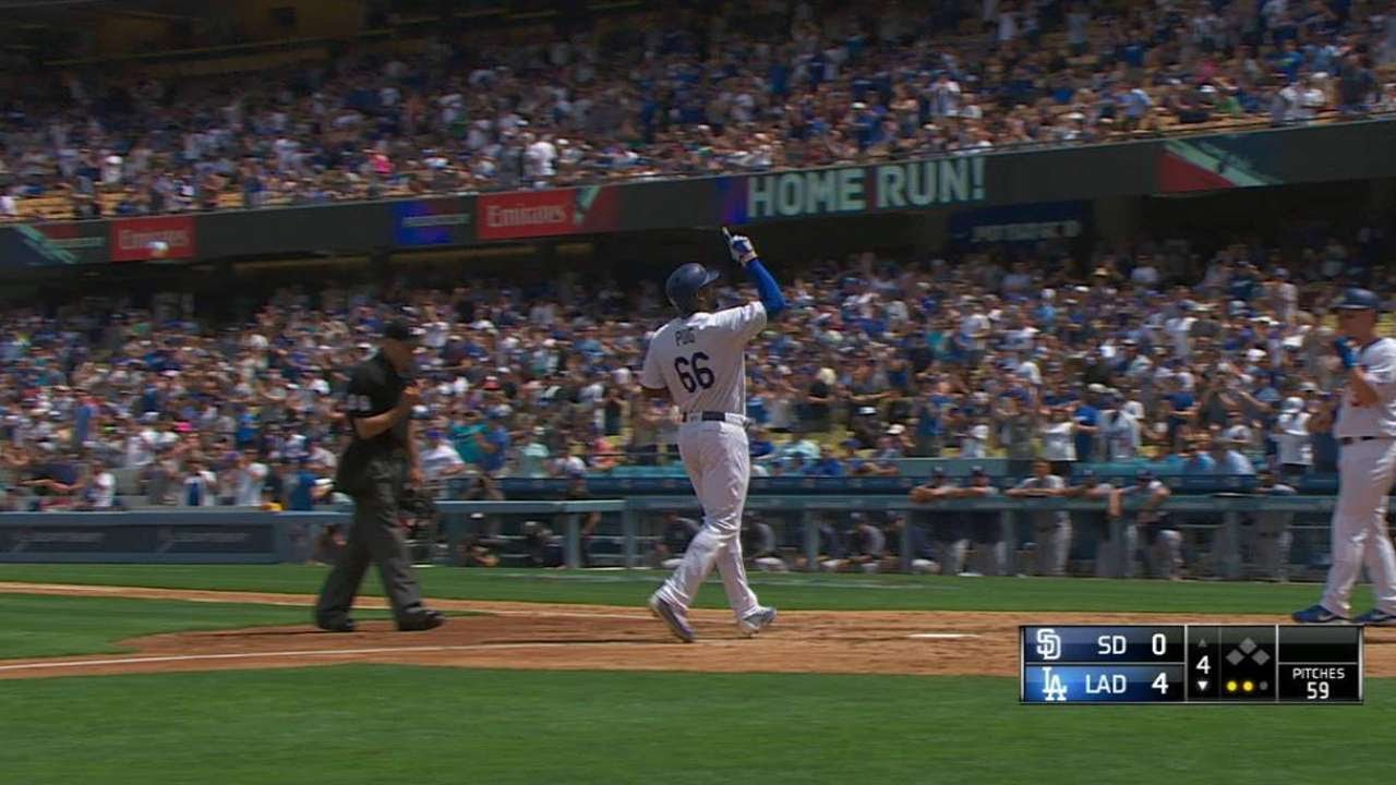 Yasiel Puig cranks out 2 home runs for the Dodgers