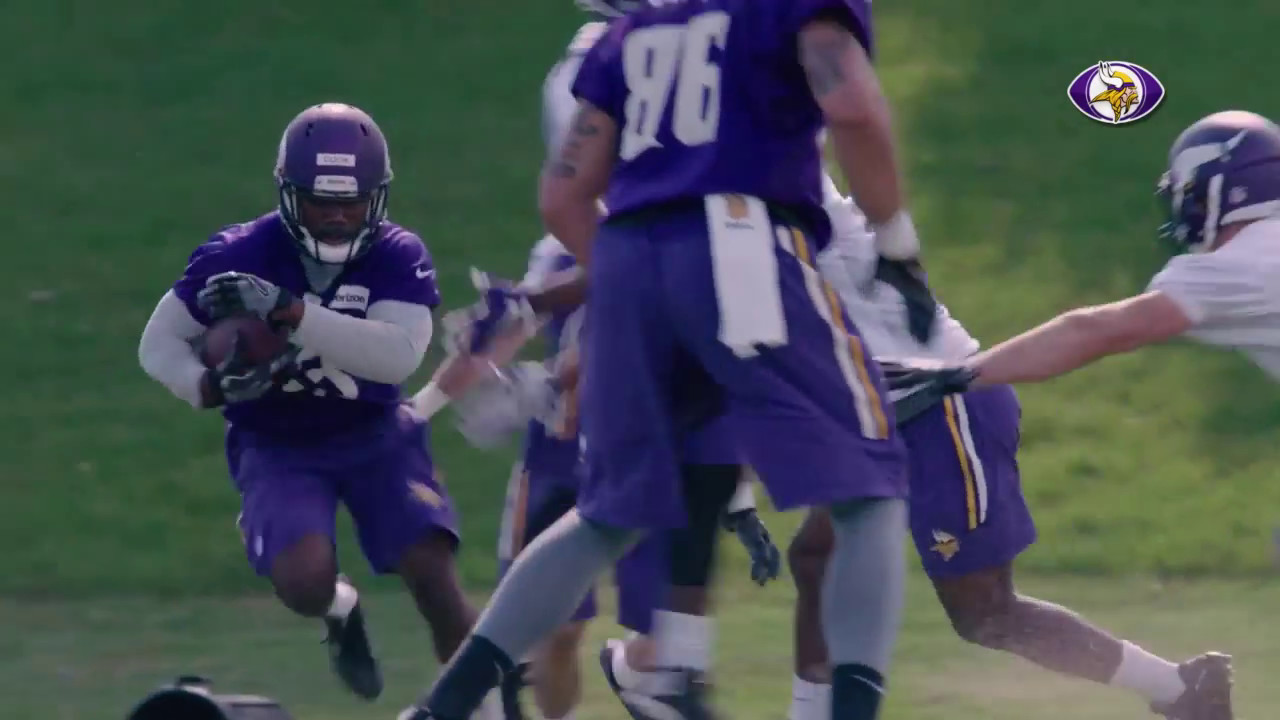 Dalvin Cook practices for the first time as part of the Minnesota Vikings