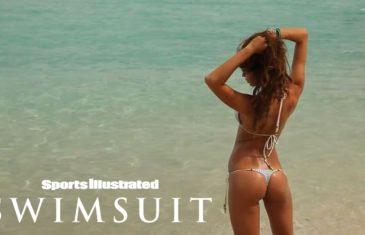 Irina Shayk almost looses her Bikini shorts during Sports Illustrated Swimsuit shoot