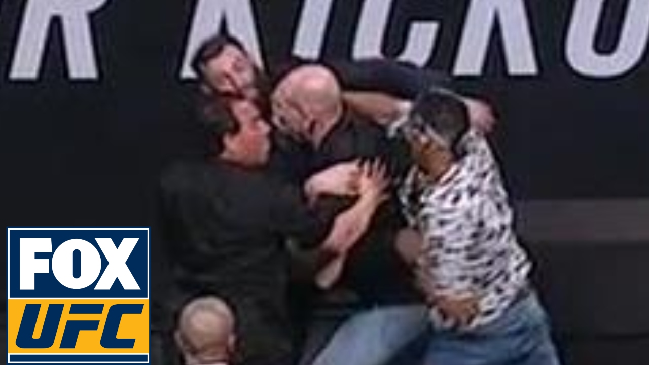 Kevin Lee & Michael Chiesa get into fight after momma joke at UFC press conference
