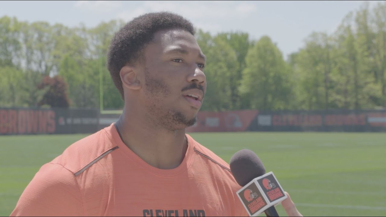 Myles Garrett speaks on his first practices as a part of the Browns