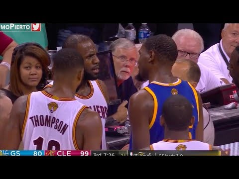 LeBron James & Kevin Durant have a heated exchange of words
