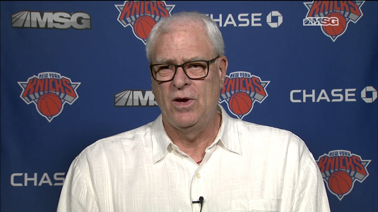 Phil Jackson speaks on potentially trading Kristaps Porzingis